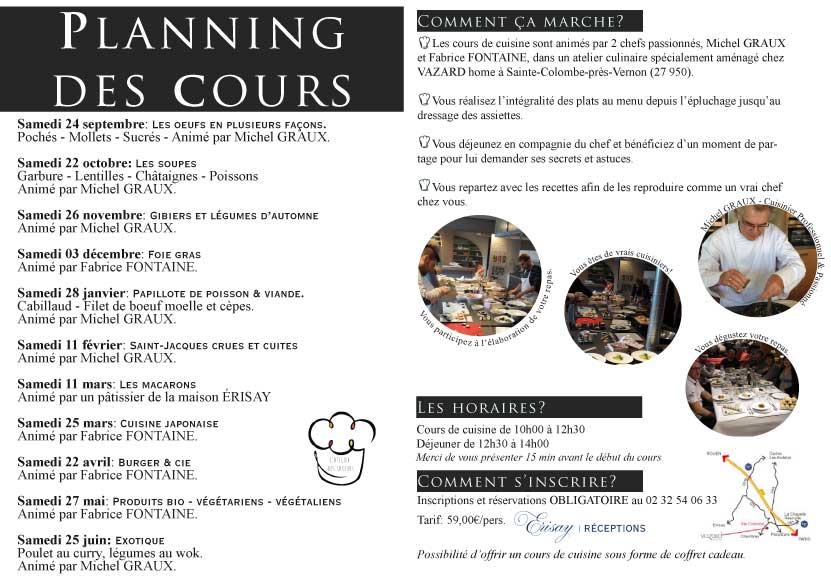 Traiteur erisay - Cours de cuisine normandie ...