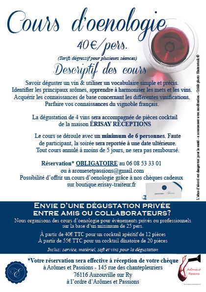 cours œnologie Rouen