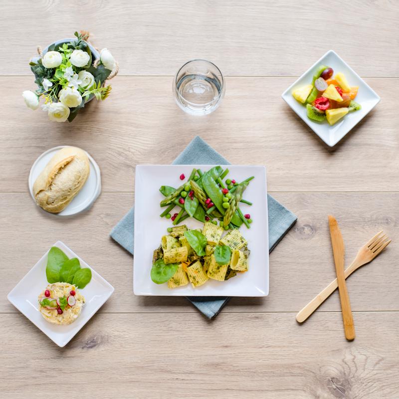 plateau repas vegetarien rome
